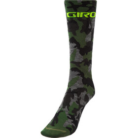 Giro Seasonal Chaussettes en laine mérinos, camo/highlight yellow